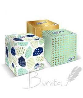 Vienkartinės nosinaitės SELPAK Boutique, 3 sluoksnių, dėžutė, 48 vnt