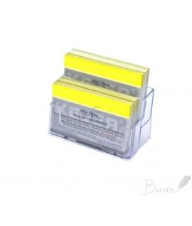 Vizitinių kortelių stovelis dvigubas, skaidrus