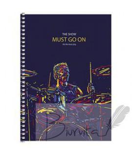 Užrašų knygelė Schoolboy A5, 80 lapai, su spirale, langeliais