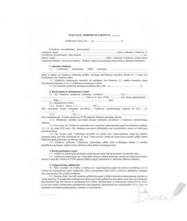 Darbo sutartis A4 1vnt
