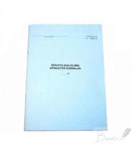 Išduotų įgaliojimų apskaitos žurnalas Nr. M-2b