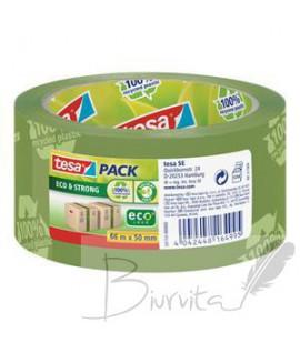 Ekologiška ir stipri pakavimo juosta TESA PACK Eco & Strong, 50mm x 66m, žalios sp.